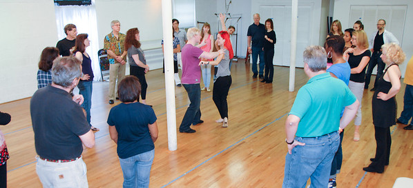 Stephen White and Sonya White West Coast Swing workshops in Norwalk, CT in June 2014