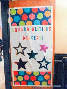 Congratulations Dancers sign at Showcase After Party