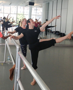 Erik and Anna Novoa at Kat Wildish's Ballet Class