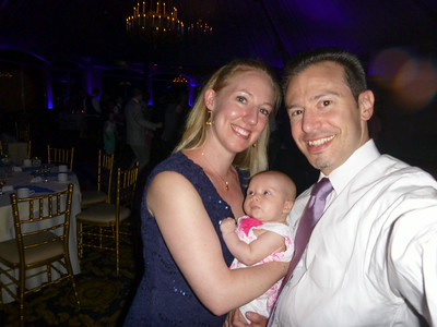 Erik, Anna, and Charlotte together at a wedding party