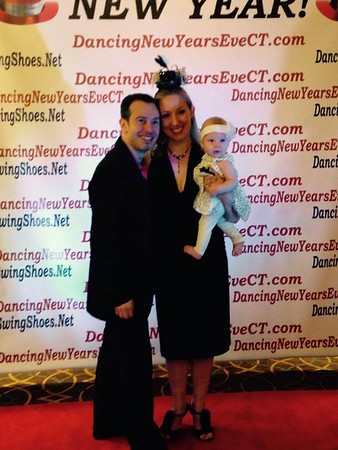 Anna, Erik, and Charlotte at Dancing New Year's Eve CT 2014
